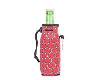Neoprene Bottle Cooler with Carabiner - Red & Black-NP809