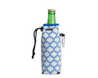 Neoprene Bottle Cooler with Carabiner - Gray & Blue-NP810