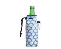 Neoprene Bottle Cooler with Carabiner - Gray & Blue-NP810