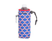 Neoprene Bottle Cooler with Carabiner - Red & Blue-NP812