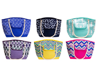 Insulated Beach Tote Assortment-P1000-ASST