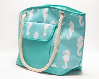 Insulated Beach Tote - Seahorses-P1003