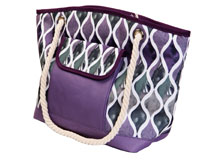 Insulated Beach Tote - Purple Waves-P1004
