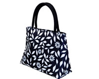 Insulated Lunch Tote - Navy Floral-P2002