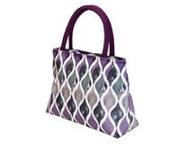 Insulated Beach or Lunch Tote - Purple Waves-P2004