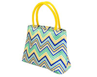 Insulated Lunch Tote - YellowithMulti Chevrons-P2005