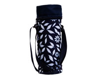 Insulated Wine Tote - Navy Floral-P3002