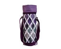 Insulated Wine Tote - Purple Waves-P3004