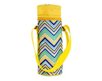 Insulated Wine Tote - YellowithMulti Chevrons-P3005