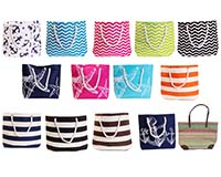 Straw Beach Totes Easy Order Assortment-SBB1000-ASST