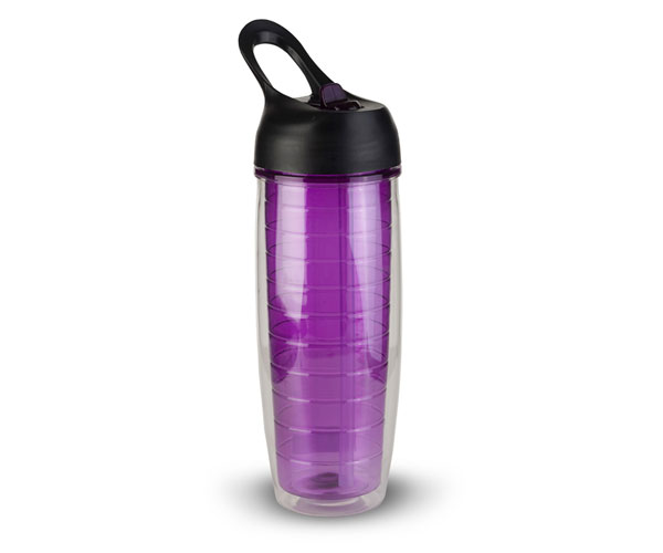 Thirzt 2 Go 20Oz Tritan Double-Walled Insulated Bottle - Purple