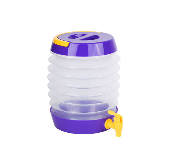 Collapsible Beverage Dispenser Purple/Yellow TG3206'