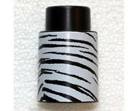 Vacuum Wine Stopper Black/WhiteTiger Stripes-VS105