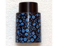Vacuum Wine Stopper Floral Pattern Blue/Black-VS111