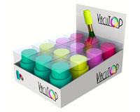 Vacutops - 12Pc Vacuum Wine Stopper Assorted Prepack Fuchsia, Purp...-VT1000-PDQ-1