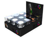 Vacutop Vacuum Metallic Wine Stopper Display 12 Assorted-VT1000-PDQ-4