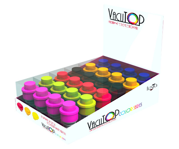 Vacutop Mini Vacuum Wine Stopper Date Indicator Display 24 piece Assortment